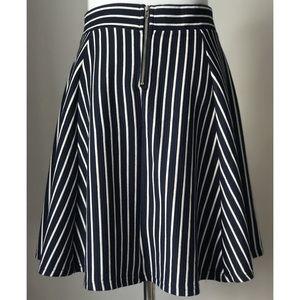 Divided Skirts - Divided Stripe A-Line Skirt